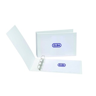 Panorama White A3 Landscape 30mm 4 D-Ring Presentation Binder (2 Pack) 40000843