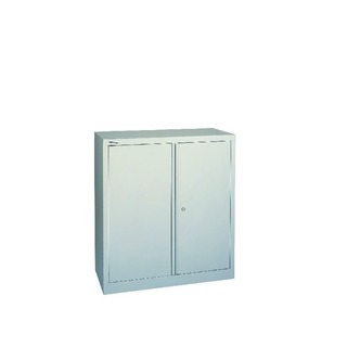Grey 2 Door Stationary Cupboard 1000mm