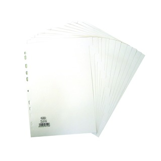A4 12 Part 160gsm White Divider 4000075