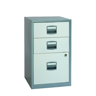 Silver and A4 White 3 Drawer Home Filer