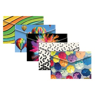 A4 Plus Fashion Press Stud Wallets in Assorted Colours (25 Pack) 3
