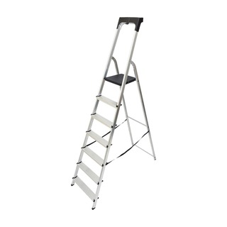 Aluminium High Handrail 7 Tread Step Ladder