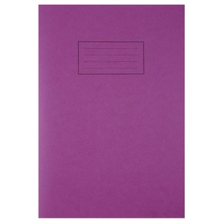 Ruled Feint With Margin Purple A4 Exercise Book 80 Pages (10 Pack) EX