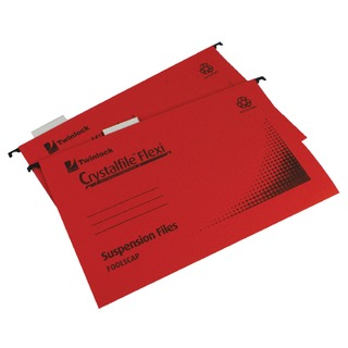 Crystalfile Flexi Standard Foolscap Red (50 Pack) 3000042