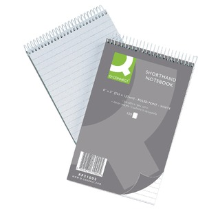 Shorthand Notebook Feint Ruled 203 x 127mm 300 Pages (10 Pack)