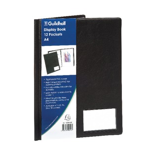 A4 12 Pocket Black Display Book CDB12Z