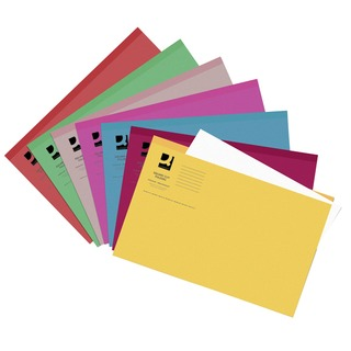 Assorted Square Cut Folders Lightweight 180gsm Foolscap (Pack 100 Pack)