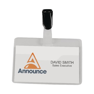 Security Name Badge 60x90mm (25 Pack)