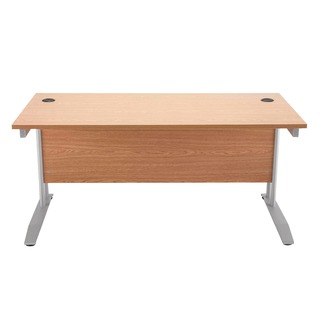 Beech 1600mm Rectangular Desk