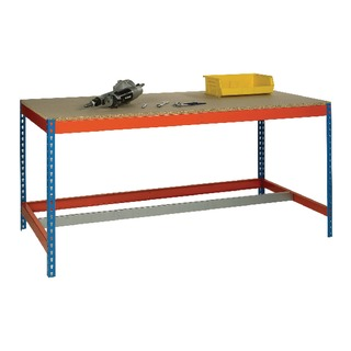 Blue and Orange Workbench With Lower Bar L1800xW750xD900mm 378940
