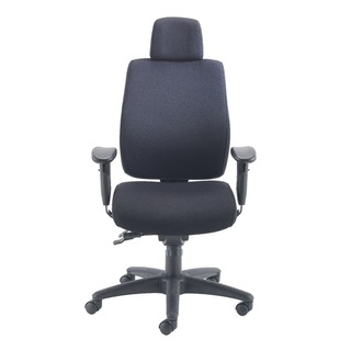 Elbrus High Back Operator Black Chair