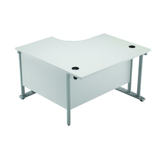 1200mm LH Cantilever Radial Desk White