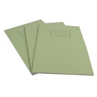 Ruled Feint With Margin Green A4 Exercise Book 80 Pages (10 Pack) EX110