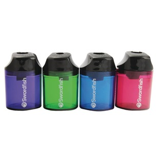 Pencil Sharpener Canister Double-Hole Assorted 40012 40033