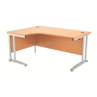 Left Hand Beech 1800mm Radial Desk