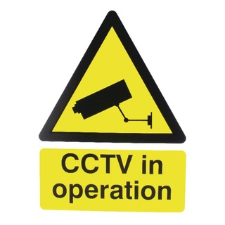 Warning Sign 400x300mm CCTV In Operation PVC CTV3B/