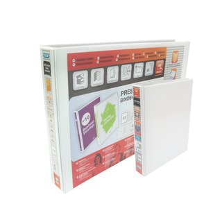 Panorama White A5 Plus 25mm 2 D-Ring Presentation Binder (6 Pack) 400008434