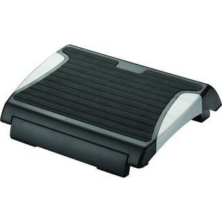 Black and Silver Rubber Foot Rest