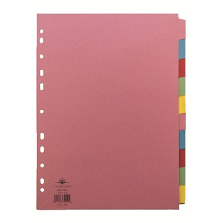 A4 10-Part 5-Colour Dividers (1 Set of 10 Pack) 72099/