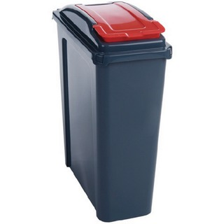 25 Litre Red Recycling Bin With Lid 384