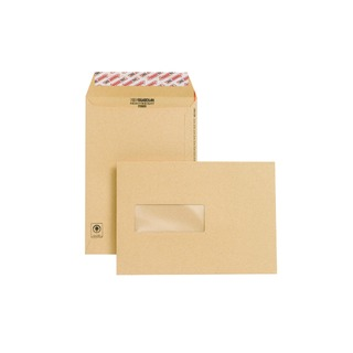 C5 Window Envelope 130gsm Manilla Peel and Seal (250 Pack)