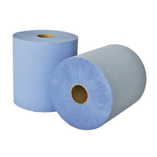 2-Ply Laminated Blue Hand Towel Roll (6 Pack) RTB175DS