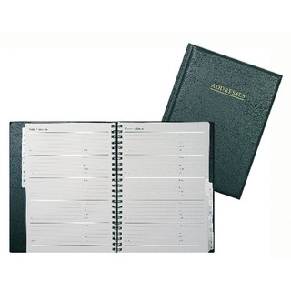 Wiro Address Book 120x148mm Black BA5