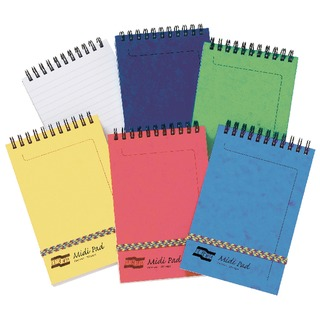 Assorted (C Pack) Midi Notepads (10 Pack) 4937