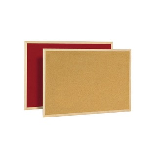 Cork/Felt 600x900mm Double-Sided Board F
