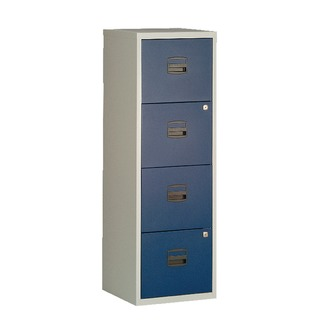 A4 Homefiler 4 Drawer Grey Blue