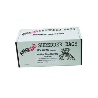 Safewrap 40 Litre Shredder Bags (100 Pack) RY0470