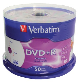 DVD+R 16X 4.7GB Spindle (50 Pack)
