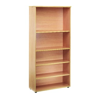 1800mm Bookcase 4 Shelf Oak