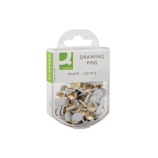 White Drawing Pins (1200 Pack)