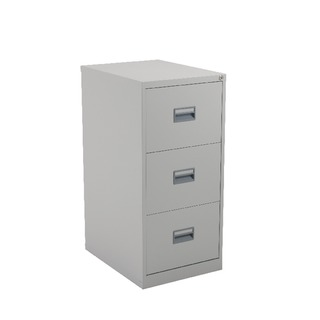 alos 3 Drawer Filing Cabinet Grey