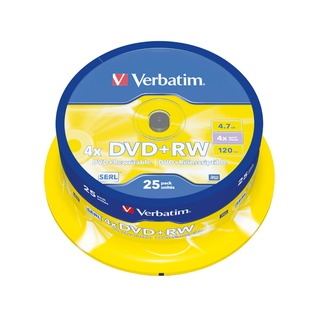 DVD+RW 4x Spindle (25 Pack) 43489