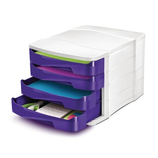 Pro Gloss Purple 4 Drawer Set 394BIGPURPL