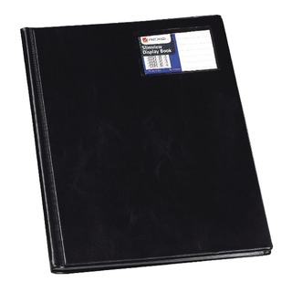 Nyrex Slimview Display Book A4 Black 12 Pocket