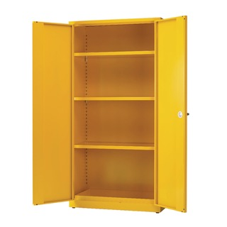 Yellow Hazardous Substance Storage Cabinet With 3 Shelves 188733