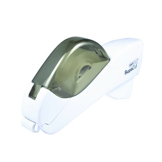 SupaCut White Tape Dispenser with 2 Rolls of Tape 1445