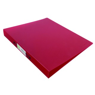 Frosted Red 2 Ring A4 Binder