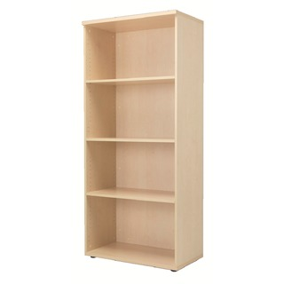 4 Shelf Maple 1800mm Bookcase