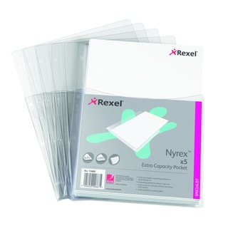 Nyrex Clear A4 Extra Capacity Pocket (5 Pack)