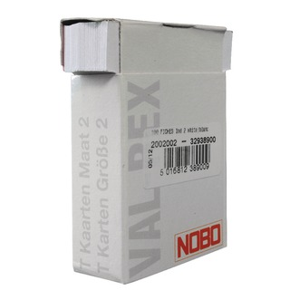 Size 2 White T-Card (100 Pack) 32