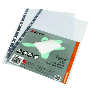 Nyrex A4 Top and Side Opening Presentation Pockets (25 Pack) 13682