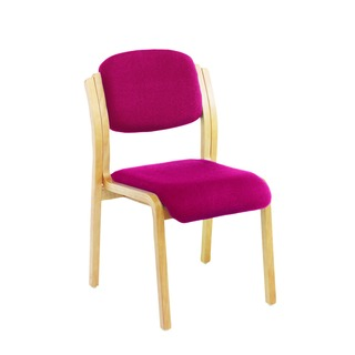 Wood Frame Side Claret Chair No Arms