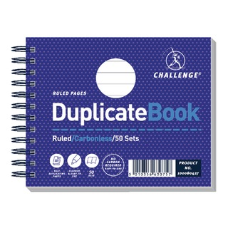 Wirebound Duplicate Book Ruled Carbonless 50 Sets 105 x 130mm (5 Pack) 10008042