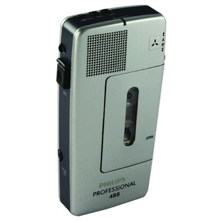 Silver Pocket Memo Voice Activated Mini Cassette Recorder LFH0488