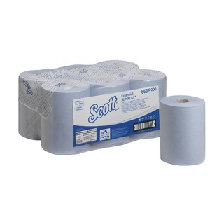 Essential Slimroll 1-Ply Blue Hand Towel Roll (6 Pack) 669