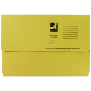 Foolscap Yellow Document Wallet (50 Pack)